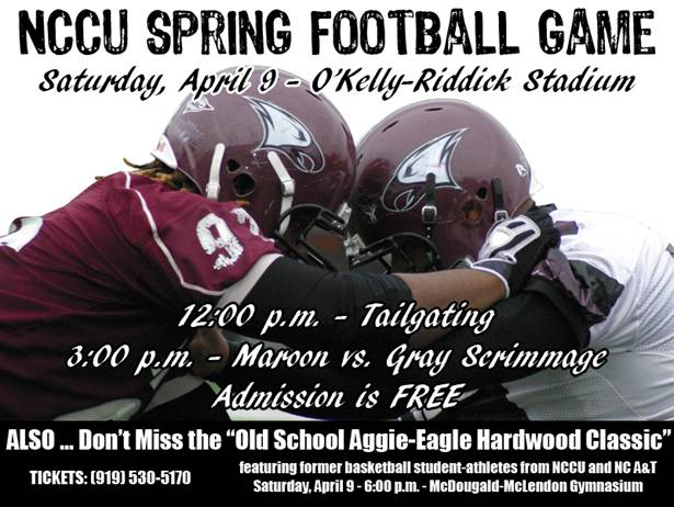 SATURDAY'S NCCU SPRING FOOTBALL GAME MARKS FRAZIER'S ...